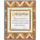Marriage Blessing Art Tapestry Throw