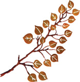 3D Aspen Leaves on Branch Laser Cut Metal Wall Art