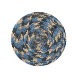 "4"" Round Braided Cotton Blend  Set of 4 Coasters 42-043"