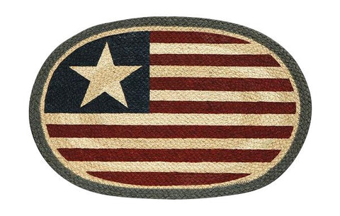 Americana Original Flag Oval Braided Jute Placemat 48-1032