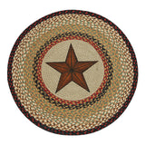 "Barn Star 27"" Round Braided Jute Rug 66-019BS"