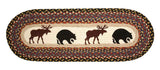 "Bear and Moose Oval Braided Jute Table 13""x36"" Runner 68-043BM"