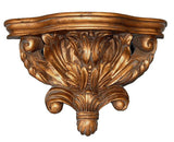 Acanthus Leaves Bracket Wall Shelf in 60 Colors