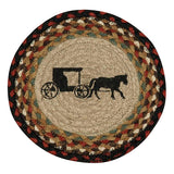"Amish Buggy 10"" Round Braided Jute Trivet 80-319AB"