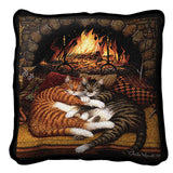 All Burned Out Art Tapestry Pillow