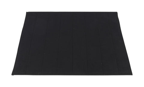 "Black Ultra Luxurious Memory Foam Bath Rug 16""x24"""