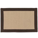 Bayswater Indoor Outdoor Braided Rectangle Rug, BY03 Natural with Brown Border