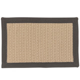Bayswater Indoor Outdoor Braided Rectangle Rug, BY43 Natural with Gray Border