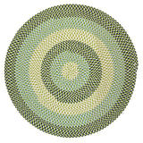 Carousel Indoor Outdoor Round Braided Rug, OU59 Neon Navy