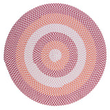 Carousel Indoor Outdoor Round Braided Rug, OU79 Ruby Pop