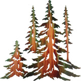 Pine Tree Forest Metal Wall Art