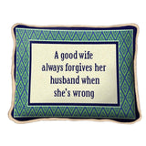 Good Wife Pillow