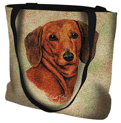Dachshund Red Tote Bag