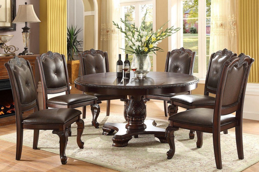 Kiera Brown Round Dining Collection