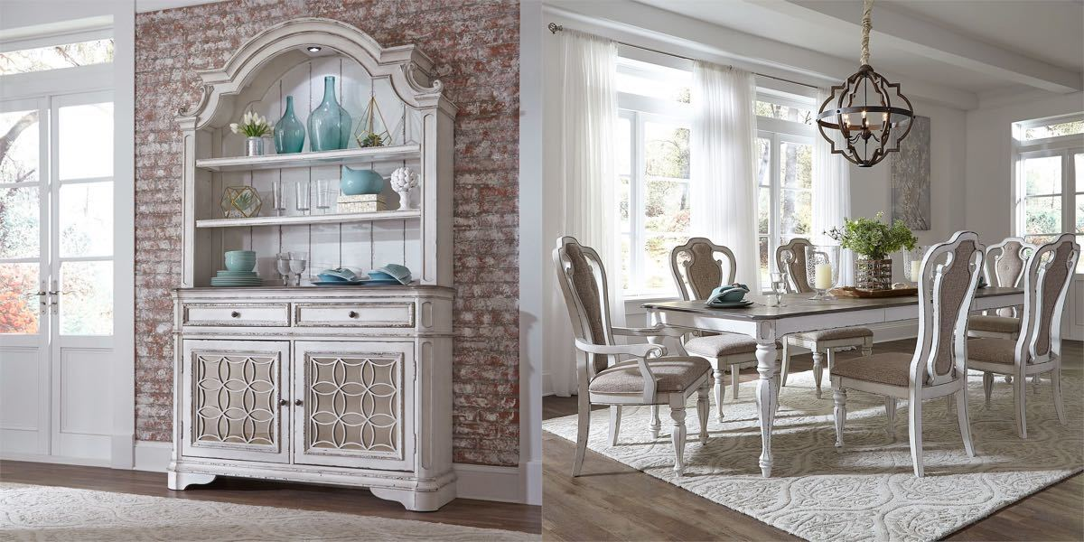 Antique White 9 Piece Dining Room Collection