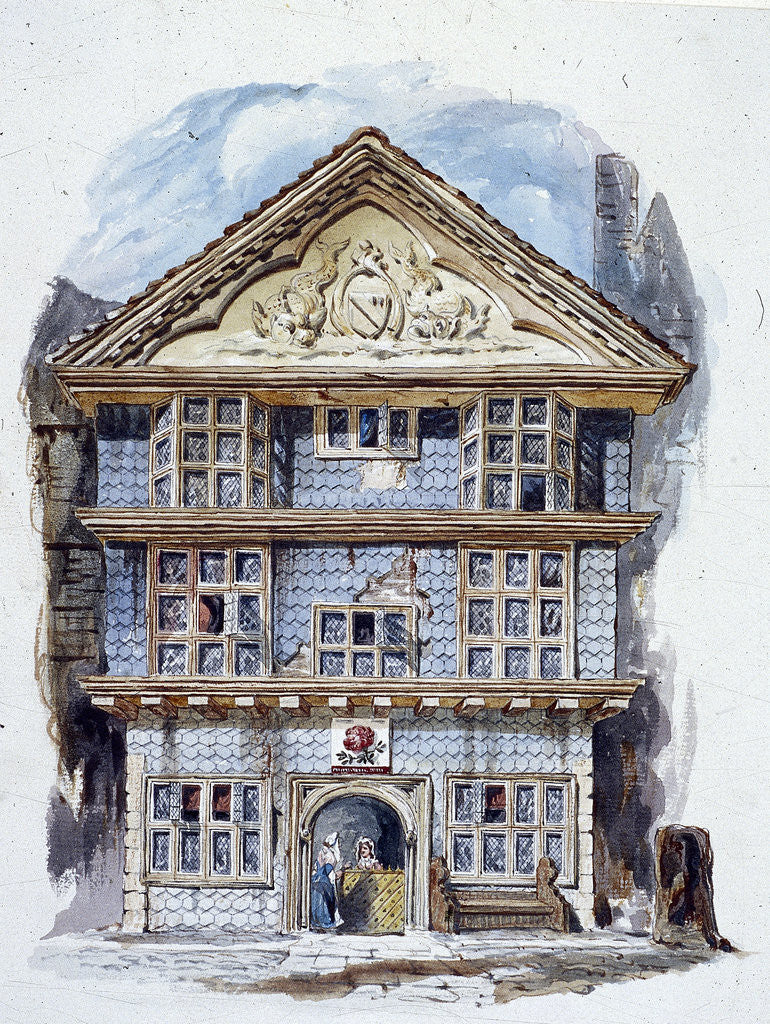 Detail of The Rose Tavern, Fenchurch Street, London (1805?) by C Matthews