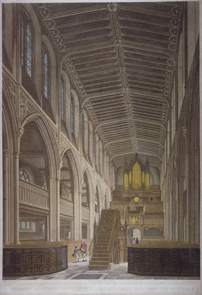 Detail of Interior of St Margaret's Church, Westminster, London by George Hawkins