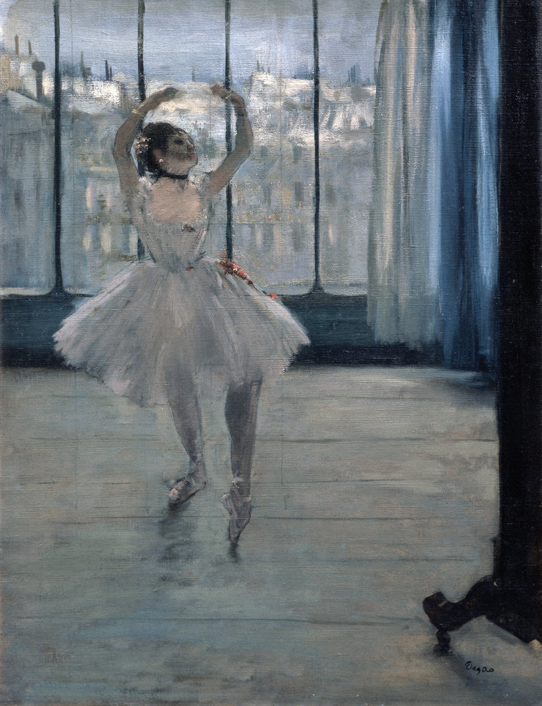 Detail of Dancer at the Photographer by Edgar Degas