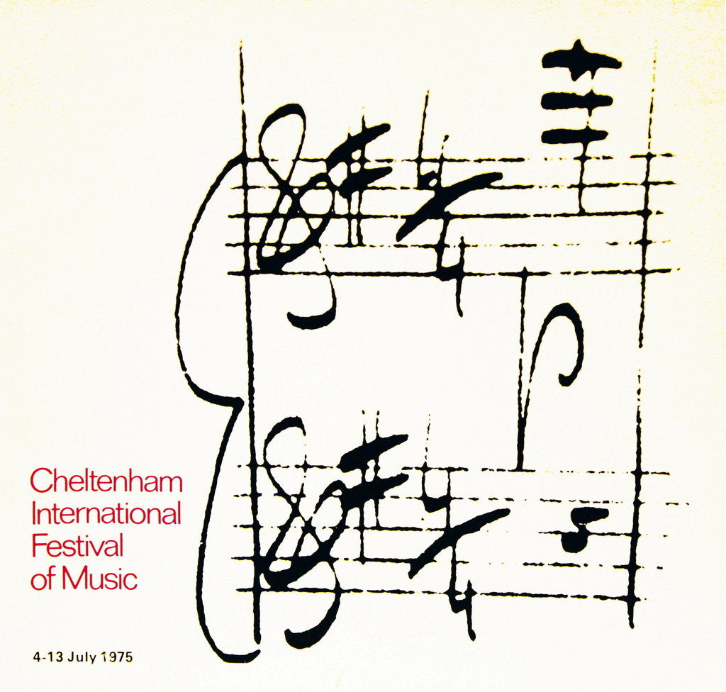 Detail of 1975 Cheltenham Music Festival Programme Cover by Cheltenham Festivals