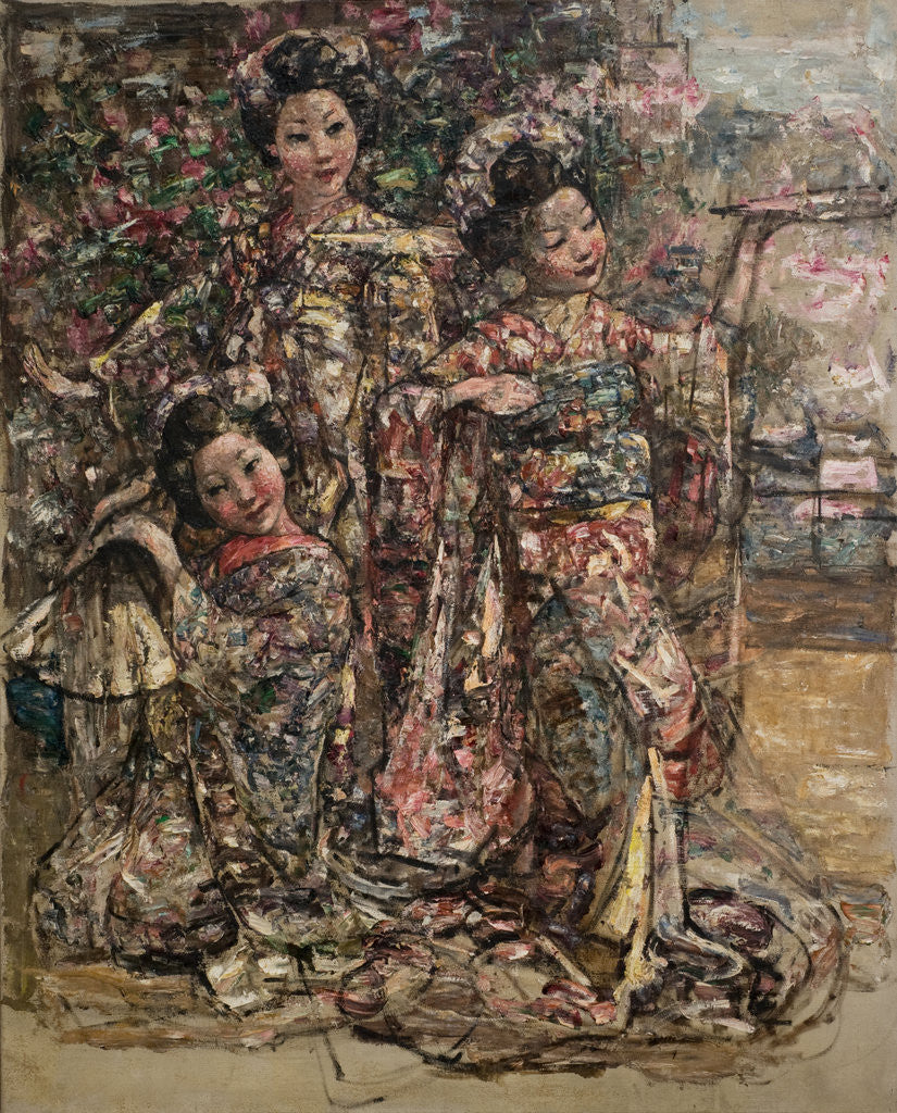 Detail of Geisha Girls, c.1921-25 by Edward Atkinson Hornel