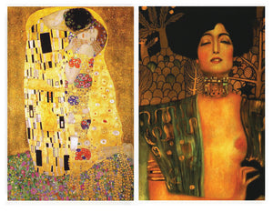 Buttonsmith® Gustav Klimt The Kiss & Judith Rectangular Refrigerator Magnet Set - Made in the USA