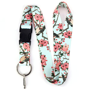Buttonsmith Hiroshige Cherry Blossoms Lanyard - Made in USA