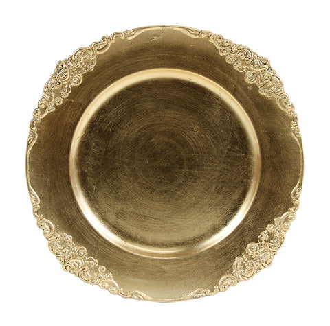 Gold Charger Plate Acrylic - Richview Glass Wedding Supplies