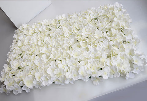 Cream Hydrangea mat Artificial Flower wall Wedding Decoration backdrop - Richview Glass Wedding Supplies