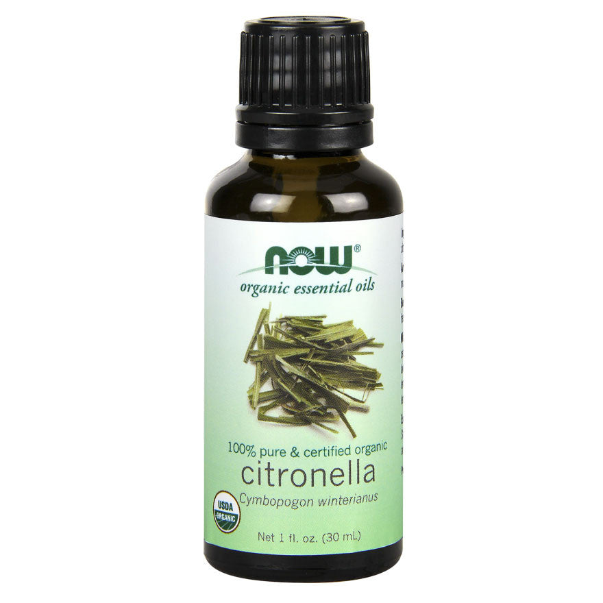 Citronella, Certified Organic Essential Oil by NOW