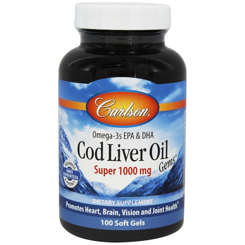 Cod Liver Oil Super (1000mg) by Carlson