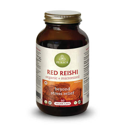 Red Reishi Calming Relief & Sleep Support by Purica (60 Capsules)