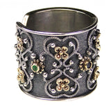 Flower Gate Black Band Ring