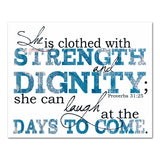 clothed with strength and dignity proverbs scripture art