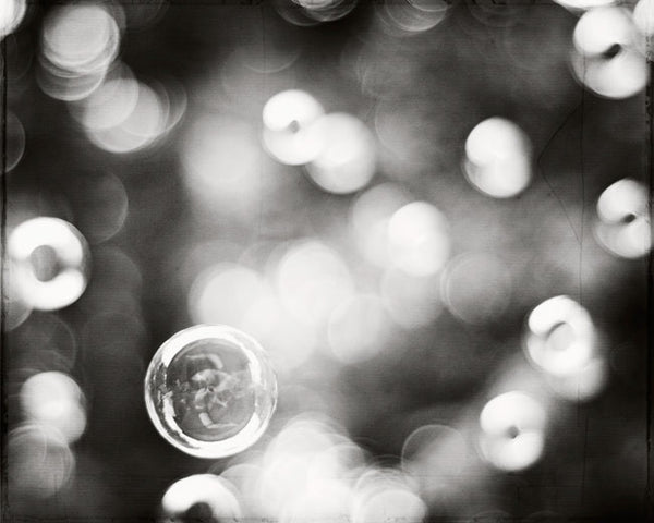Bubble Photography by carolyncochrane.com | Black and White Bathrom and Laundry Art