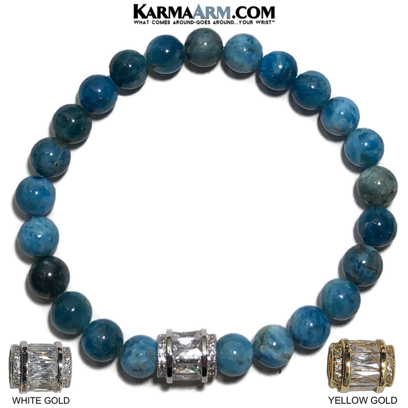 Meditation Mantra Yoga Bracelet. Meditation Self-Care Wellness Wristband Zen bead mala Jewelry. Apatite CZ Diamond. copy