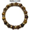 Meditation Mantra Yoga Bracelet. Meditation Self-Care Wellness Wristband Zen bead mala Jewelry. Tiger Eye Om Mani Padme Hum.