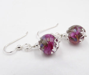 EARRINGS - Flower Petal & Cremation Jewelry