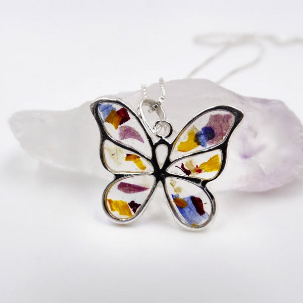 Resin Butterfly Kisses Pendant
