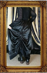 showing the back view of the Seraphina Ravenclaw skirt without the hoop skirt worn under it
