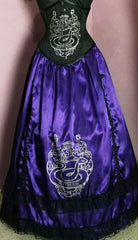 gothic purple slytherin victorian cosplay skirt with hoop skirt from gallery serpentine