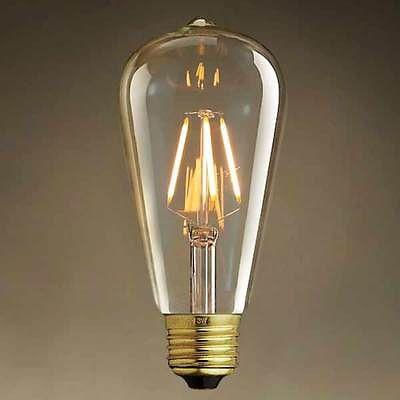 4W E27 Globe LED Edison Bulb 6 piece lot -  westmenlights