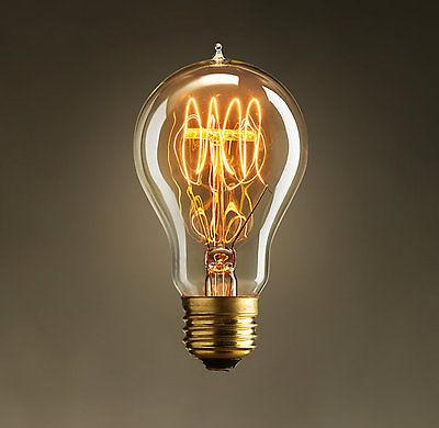 40W E27 Spiral Incandecent Edison Bulb 6 piece lot -  westmenlights