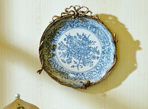Ormolu Mounted Wall Decor Plates