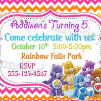 Care Bears Birthday Invitation Digital Download