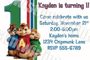 Alvin and the Chipmunks Invitation Digital Download