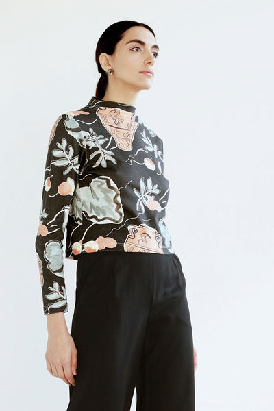 Vessel Print Mock Top