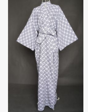 2017 Cool Traditional Japanese Male Kimono Men's Robe Yukata 100% Cotton Men's Bath Robe Kimono Sleepwear with Belt 62502