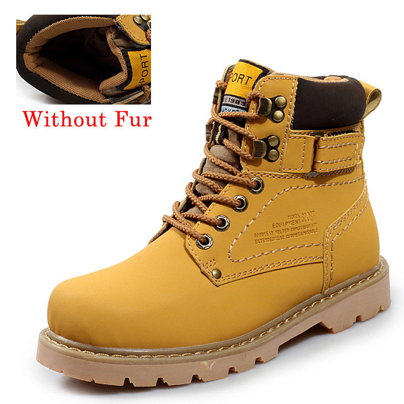 Big Size 35-46 Winter Men Boots Genuine Leather Boots Men Winter Shoes Men Military Fur Boots For Men Shoes Zapatos Hombre