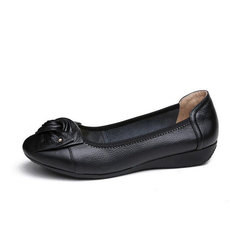 Handmade genuine leather ballet flat shoes women female casual shoes women flats shoes slip on leather car-styling flat shoes