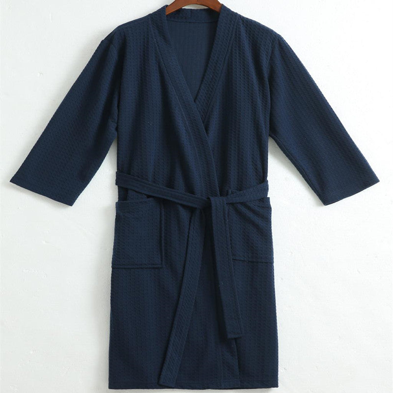Lovers Towel Cotton Robe Men Women Kimono Waffle BathRobe Male Sleepwear Mens Dressing Gown Badjas Wedding Bridesmaid Robes